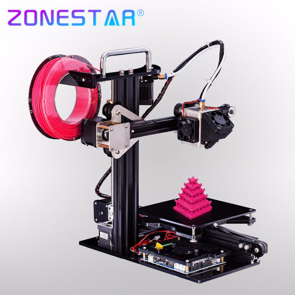 Newest Easy Assemble use Optional Aluminum Metal Small 3D Printer DIY Kit for Education  for Children Teaching Free Shipping