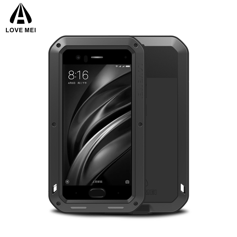 Love Mei Metal Case Xiaomi Mi 6 / Mi 8 / Mi 9 ցնցող հեռախոսով ծածկող համար Xiaomi Mi 6 Mi 8 Mi 9 Rugged Anti-Fall Armour Case