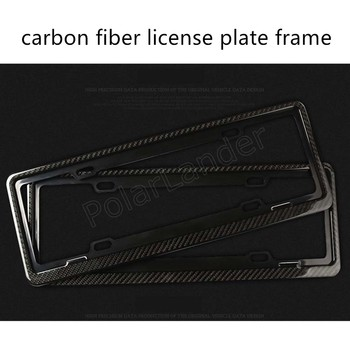 2 pieces new coming universal car adjustable carbon fiber license plate frame license plate frame license plate 46.5x17cm фото