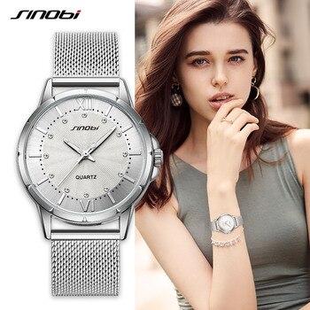 reloj mujer sinobi Women Simple Quartz Watches Ladies Top Brand Luxury Female Geneva Wrist Watch Girl Clock Relogio Feminino