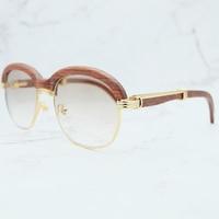 Wood Sunglasses Men Vintage Retro Sun Glasses Designer Brand Luxury Women Carter Wooden Unique Eyewear Men Accessories