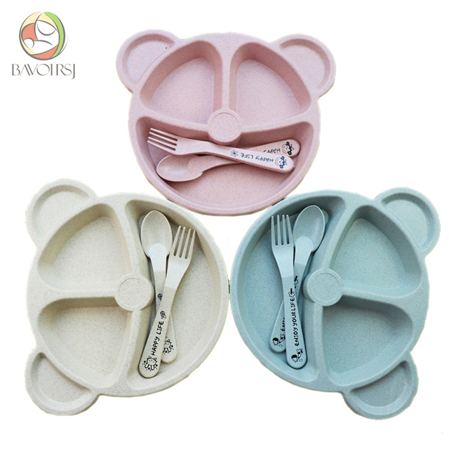 Baby Tableware Dinnerware Suction Bowl with Temperature Sensing Spoon Baby Food Baby Feeding Bowls Dishes T0093