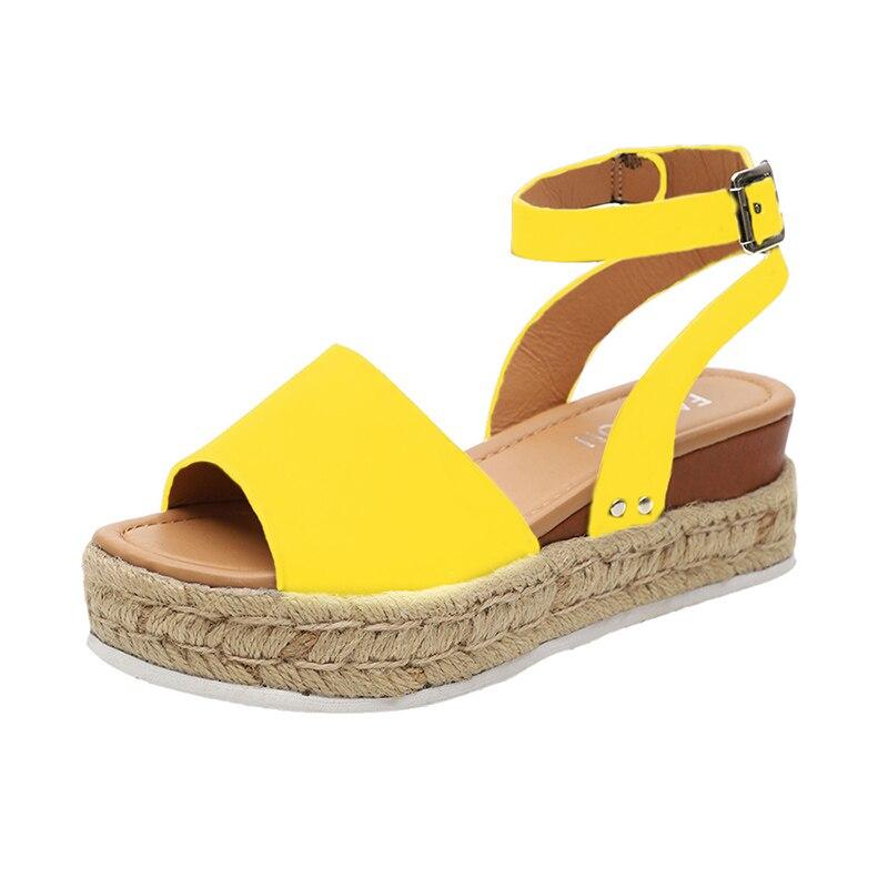 SHUJIN Wedges Shoes For Women Sandals Plus Size High Heels Summer Shoes 2019  Flop Chaussures Femme Platform Sandals #New