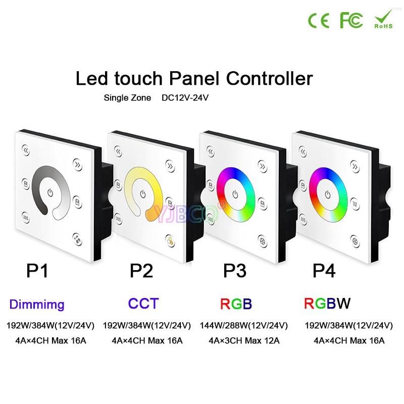 BC led Brightness dimmer RF wireless remote dimming/CCT/RGB/RGBW led Touch panel controller for LED Strip Light lamp,DC12V-24V vay