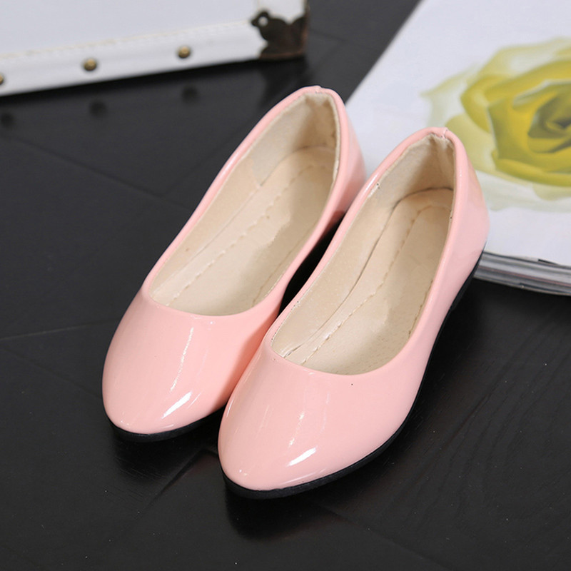 Korean Women's Shoes Autumn Flats 2017 New Women Shoes Students Shallow Mouth Single Shoes Female Flat Patent Leather