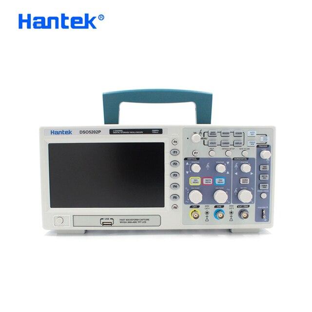 Hantek DSO5202P Kỹ Thuật Số Dao Động Ký 200MHz 2 Kênh USB Cầm Tay Osciloscopio Di Động 1gsa/S Điện Oscillograph 7Inch