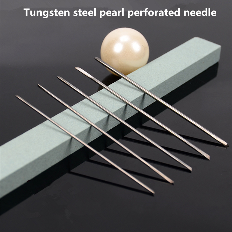 Triangular Drill High Hardness Tungsten Steel Punching Needle For Pearl Perforation Pearl Punching Machine  Free Shipping