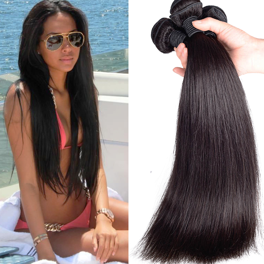 Soft Brazilian Virgin Hair Straight 8A Unprocessed Virgin Hair Mink Brazilian Straight Hair Human Hair Weave Bundles Tangle Free