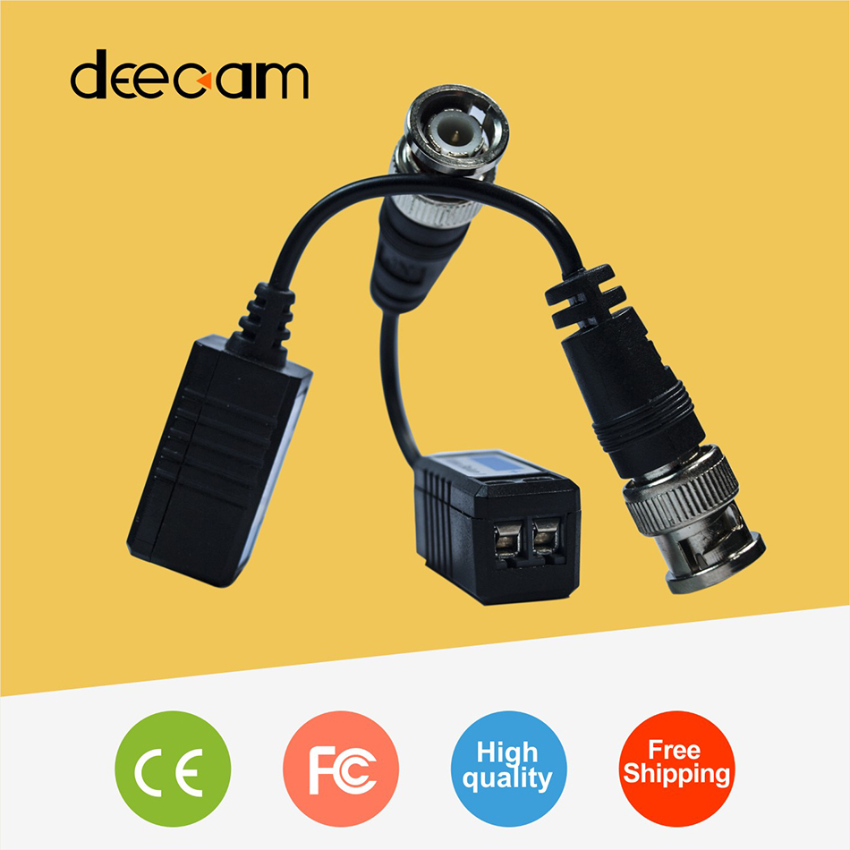 Deecam CCTV video balun in CCTV Accessories RJ45 bnc connector Single Passive twisted pair transmitter cctv