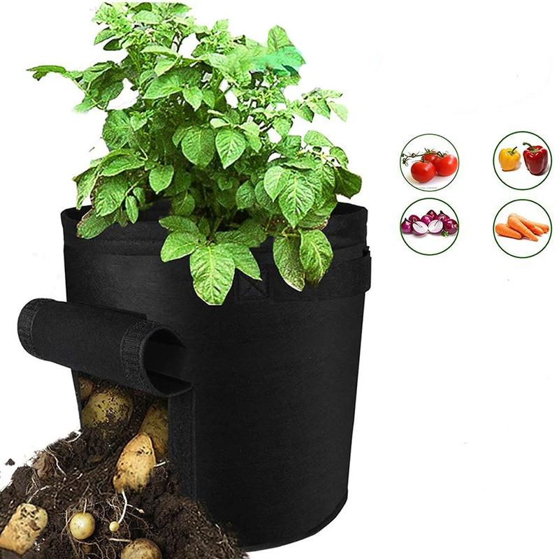 Image 5 - Сумка для выращивания картофеля с ручками, цветочный горшок для выращивания овощей, сумки для домашнего сада, аксессуары для посадки, ящик для выращивания, ведро, горшок-in Гроубэги from Дом и животные