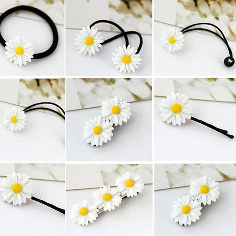 Vivid Daisy Flower Different Types of Headwear Hair Cips Elastic Band Barrettes  Hair Accessories for Women