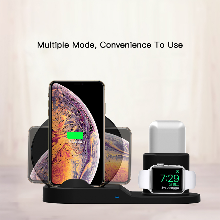 Fast Charge Wireless Charger For Iphone XS XR XS Max 3 In 1 Wireless Charger Dock Station For Apple Watch Series 1 2 3 4 Airpods (1)