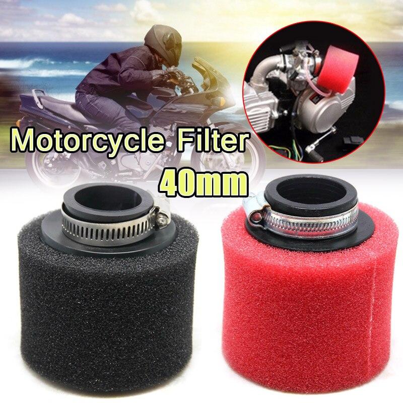 Universal 50mm Black Air Filter Cleaner Motorcycle Cruiser Chopper Dirt bike ATV