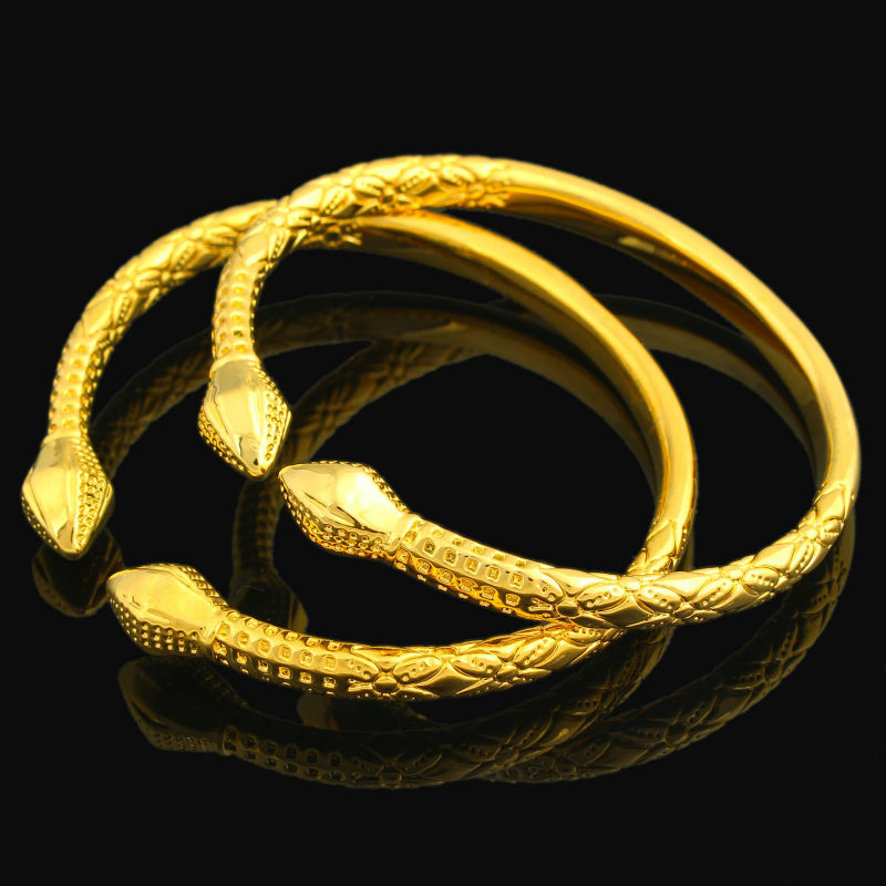 Free Size Gold Nail Bracelet For Women Men Gold Color Bangle jewelry Ethiopian/USA/African Items