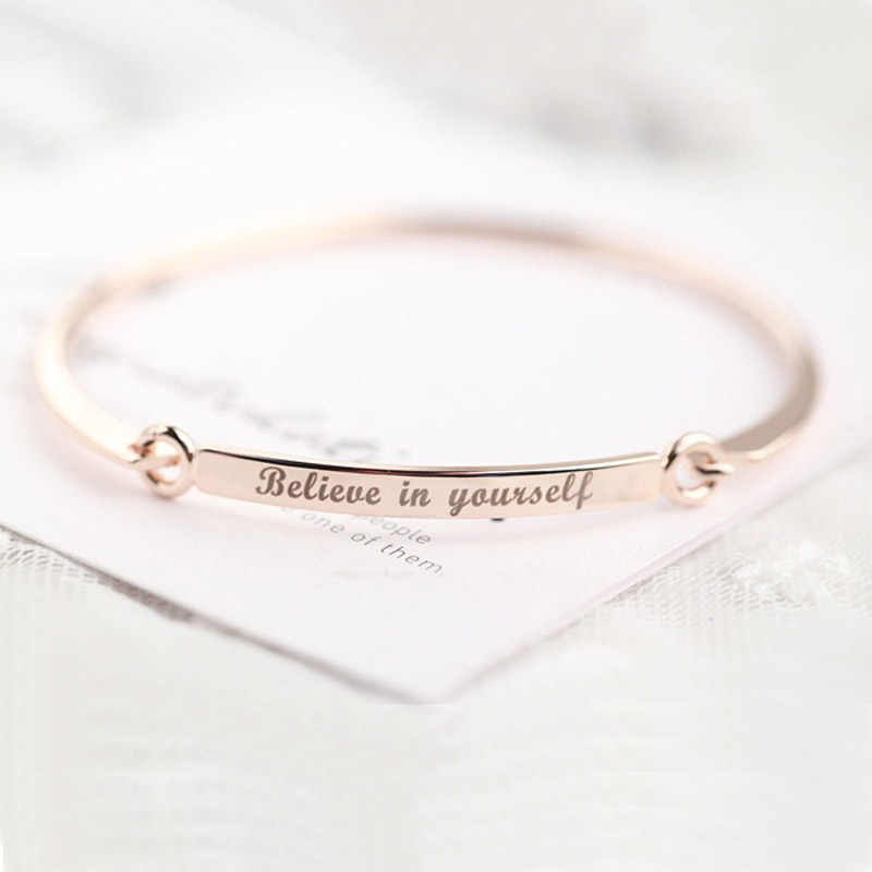 Personalized Engraved Name Bracelets Bangles For Female Custom Armband Bracelet Women Dropshipping