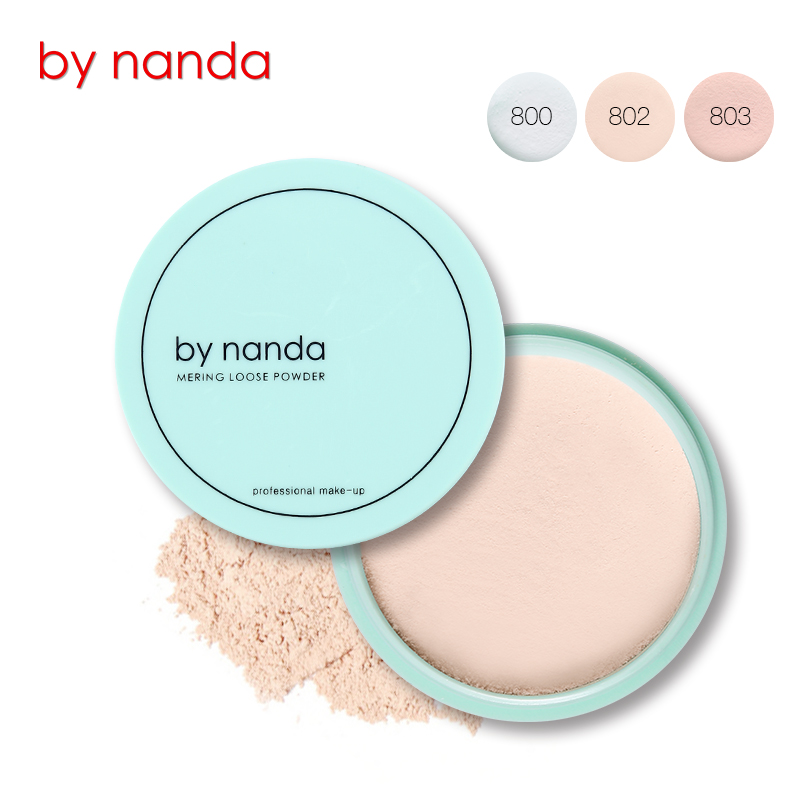 By Nanda 3Color Waterproof Translucent Loose Powder Makeup Face Foundation Base Finishing Powder Contour Setting Powder Cosmetic image