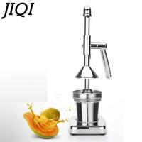 JIQI Fruits Vegetable Hand Manual Squeezer Juicer Orange Lemon Juice Slow Pressing Extractor Commercial Stainless Steel