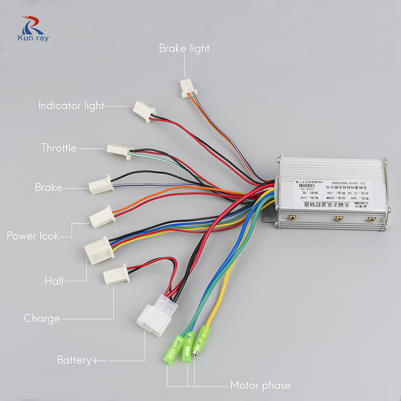 us $22 44 49% off electric bike controller 250w 350w 24v 36v 48v sine wave brushless motor controller electric controller for bicycle scooter in Wiring Yk31c Diagram Controller Tdpao