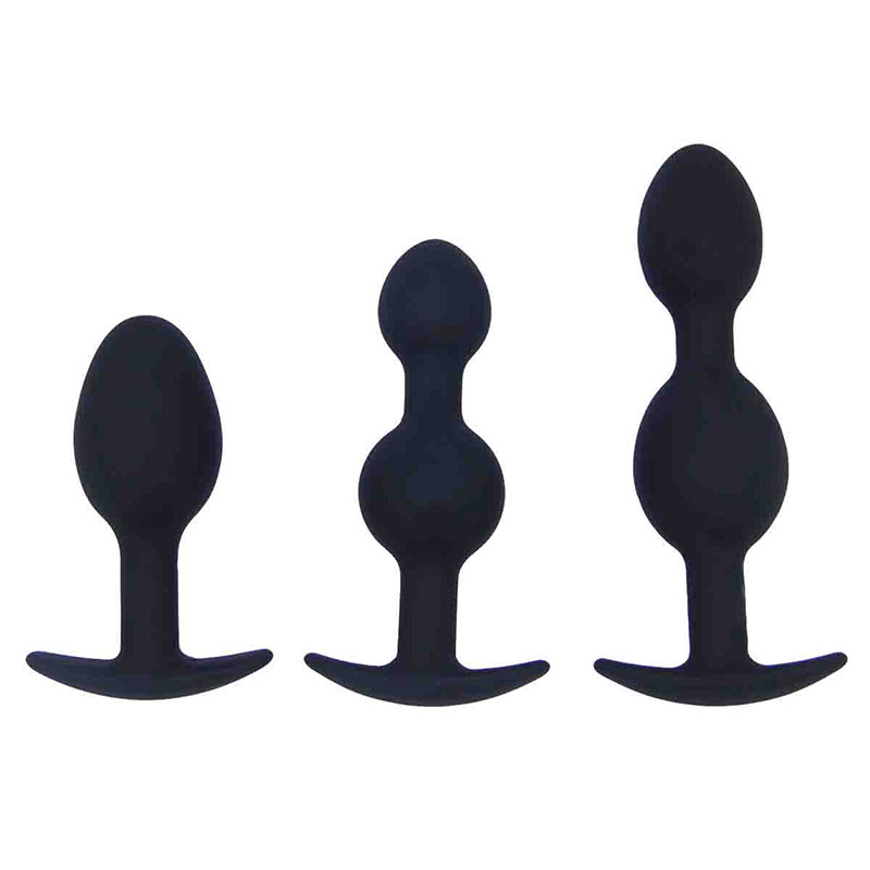 Sex Products Couple Flirting Enchanting Backyard Waterproof Activity Steel Beads Silicone Back Court Anal Plug Adult Products in Anal Sex Toys from Beauty Health
