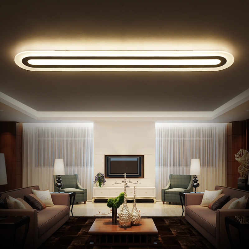 Modern Led Ceiling lights for living room bedroom white Ceiling lamp acrylic fixtures 85-26V lamparas de techo plafonnier 2017 acrylic modern led ceiling lights fixtures for living room lamparas de techo simplicity ceiling lamp home decoration