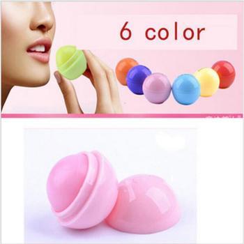 6 colores humectante Natural planta bola redonda labio pomada bálsamo labial de frutas brillo orgánico lápiz labial nutritivo