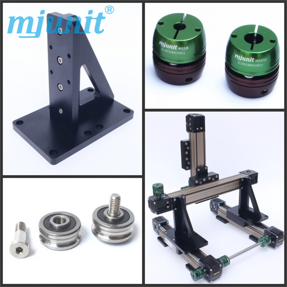 60/42/57/86 step motor synchronous belt linear module sliding table, length customization, linear guide table 45 mm wide 57 stepper motor can match the linear single shaft module synchronous belt line electric sliding table