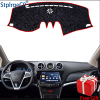 Latest Rose Pattern Non slip Car Dashboard Cover Dash Mat Pad DashMat ANti UV Car Sticker for BYD TANG DM 2015 2017 Car Styling