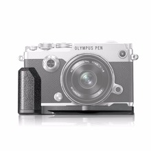 Meke MK-ECG4 metal negro mano de la cámara para Olympus PEN-F mirroless Cámara