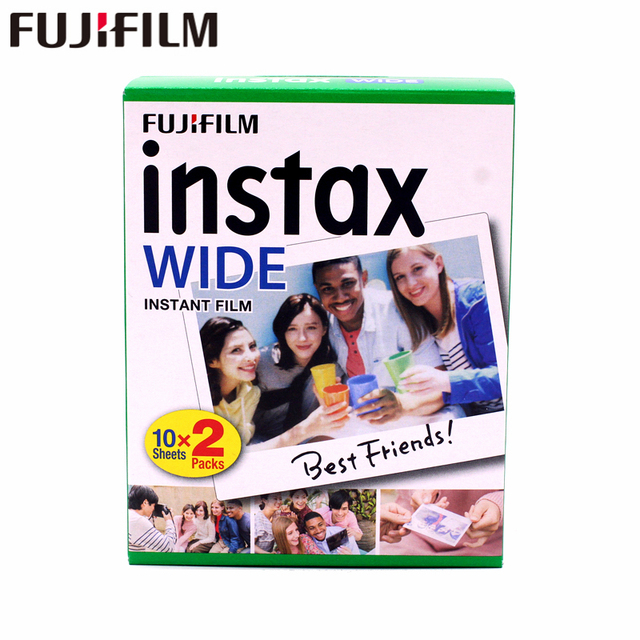ブランド新しい富士インスタックスワイドフィルム無地エッジツインパック (20 写真) インスタント写真カメラインスタックス 200 210 送料無料