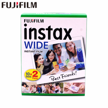 Brand New Fujifilm Instax Largo Film Plain Bordo Twin Pack (20 Foto) per Instant Photo Camera Instax 200 210 di Trasporto Libero