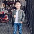 Мальчик кожаная куртка 2017 весной Модный бренд мальчик новая кожаная куртка Уникальный дизайн детская куртка Мотоцикл мальчик куртка пальто