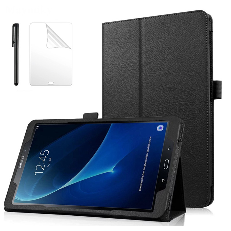 Business Pu Leather Case For Samsung Galaxy Tab A 10.1 T580 T585 SM-T580 Cover For SM-T580 Case For T580N Case+Film Pen