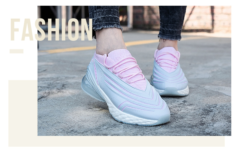 ONEMIX Women Sneakers Casual Fashion Leather Upper Air Cushion Soft for Outdoor Sport Running White Ladies Shoes Plus size 43 in Running Shoes from Sports Entertainment