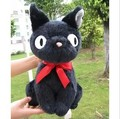 free shipping 22CM KiKis Delivery Service JIJI CAT Plush Toy Stuffed Animal Doll 1PC Black cat