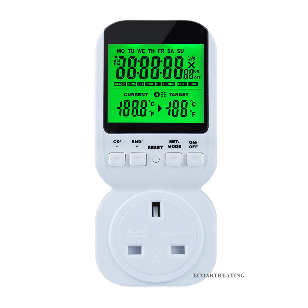 Multi-function Thermostat Timer Switch Socket with Sensor Probe Energy-saving Mechanical Timer Socket Timing Switch hp 9800 4500w 85 265v 20a electric power energy monitor socket watt meter analyzer with socket output energy saving lamps tester