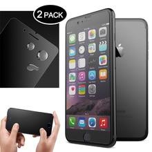 [2 шт] закаленное стекло для iphone 6 6s 7 8 plus протектор экрана без отпечатков пальцев Премиум для iphone x Матовая Стеклянная защитная пленка