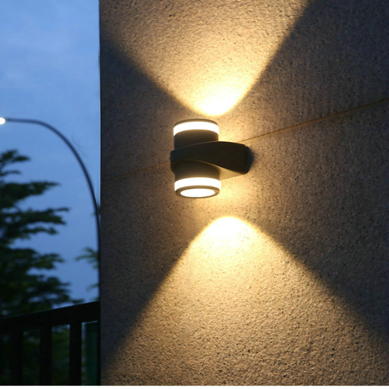 Us 44 64 28 Off Up Down Light Outdoor Wall Home Led Lamps For Lamp Contemporary Facade Lighting Luces De Exterior 110 220 In