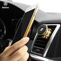 Baseus soporte de coche soporte para teléfono móvil soporte de aluminio perfume aromaterapia magnética imán de metal 360 air vent mount holder