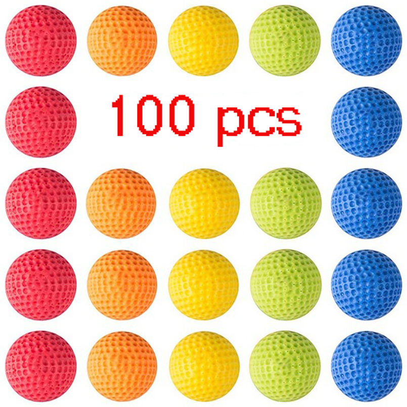 Eva2king 100pcs High Quality Ball Bullets For Rival Zeus Apollo Nerf Toy Gun Soft Round Darts For Nerf Rivals Gun Best Gift