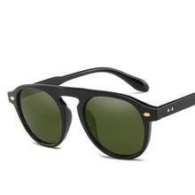 New Arrival Round Sunglasses Men coating Retro Women Brand Designer Sun glasses Vintage mirrored UV400