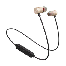Sport Wireless Bluetooth Earphones Metal Magnetic Running Stereo Super Bass Headsets With Microphone