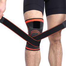Sports kneepad 1PCS 3D Weaving Pressurization Knee Brace Basketball Hiking Cycling Support Professional Protective K