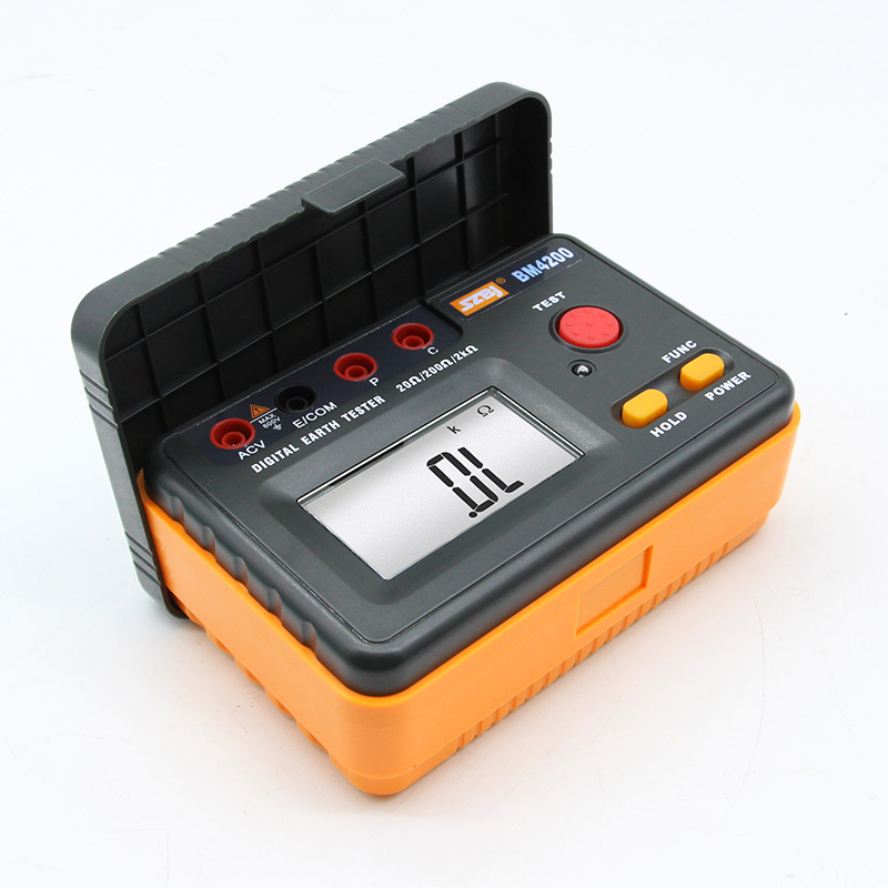 SZBJ BM4200 High Precision Digital Grounding Resistance Tester 2000 ohm Grounding Shaker Lightning Protection TesterSZBJ BM4200 High Precision Digital Grounding Resistance Tester 2000 ohm Grounding Shaker Lightning Protection Tester