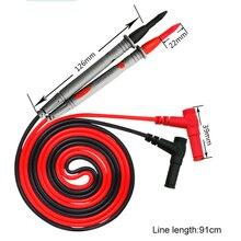 1 пара 20A силиконовый провод Ручка Универсальный зонд Тестовые провода Pin для цифрового мультиметра Наконечник иглы мультиметр тест er зонд