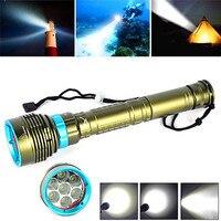 flashlight for bicycle Underwater 200m 20000LM 7x XM L2 LED Scuba Diving Flashlight 3X18650/26650 Torch Bike room 17629 P34