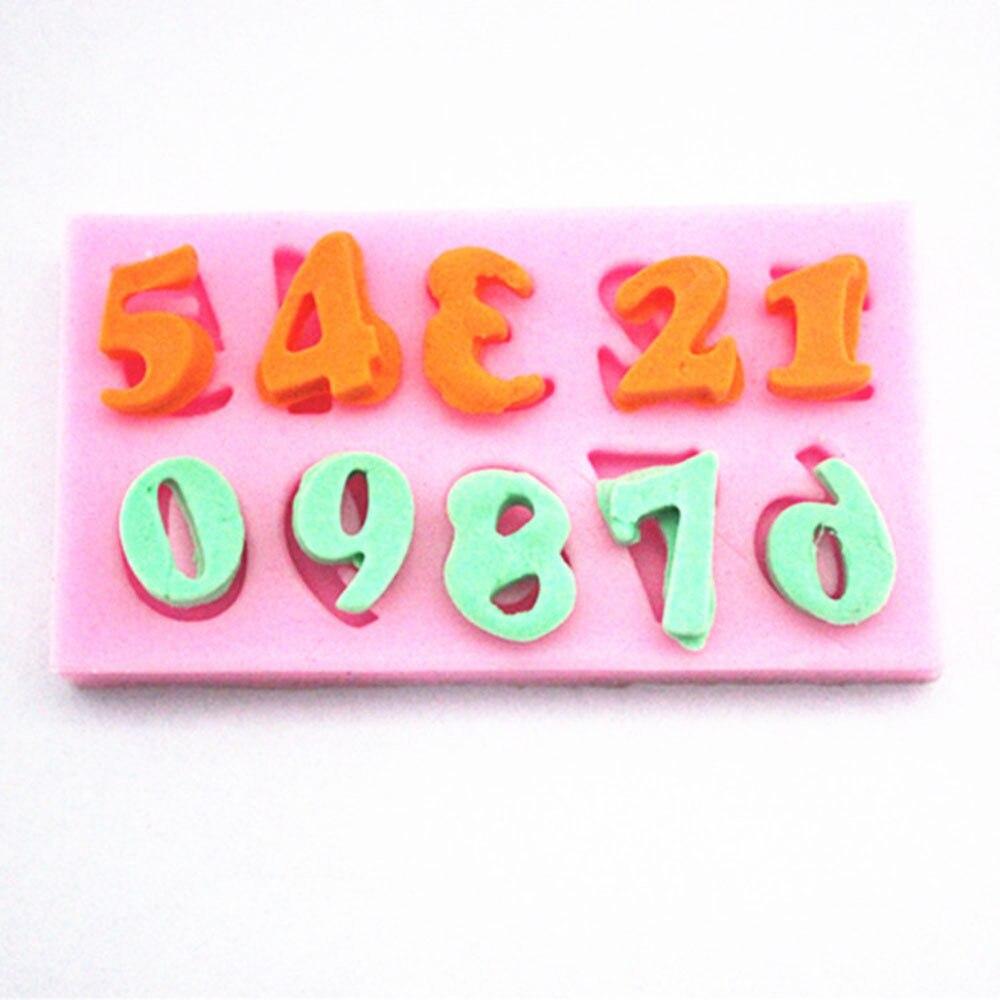 ⊹F1065 Numbers Silicone Fondant Mold Gum Paste Cake Decorating cake ...