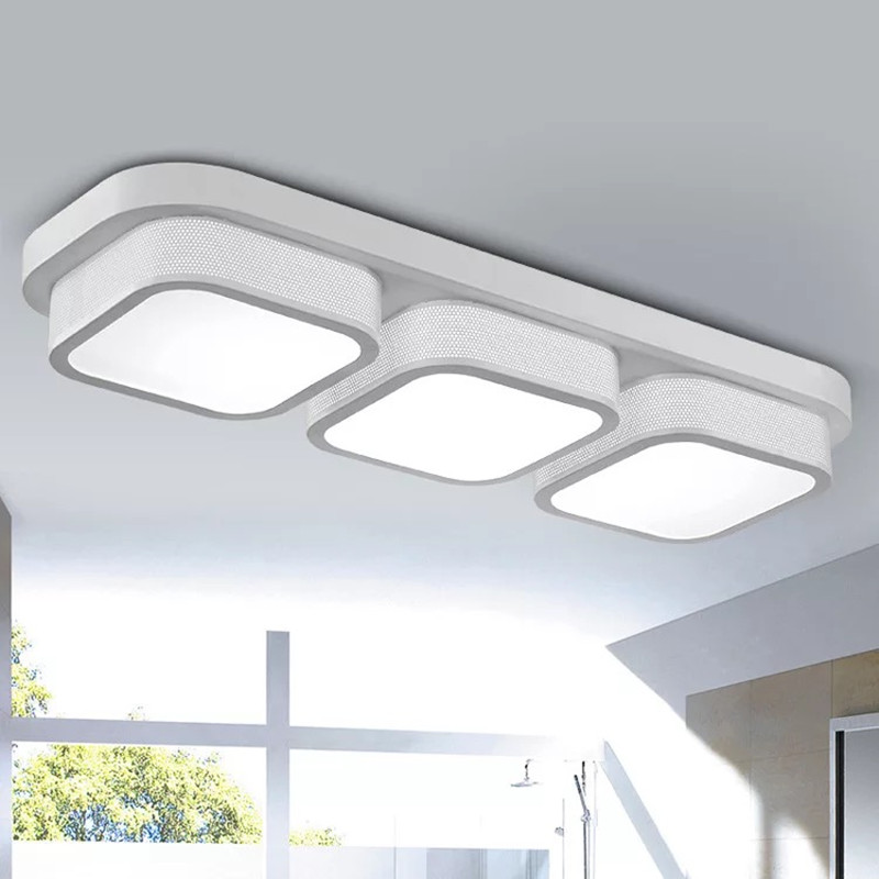 HAWBOIRRY LED Living Room Lobby Bedroom Restaurant Hotel Aisle Office Modern Simple Multi-head Ceiling Light