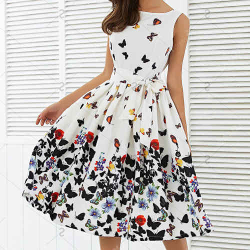 Detail Feedback Questions about Summer New Fashion Women One Piece Dress  BOHO Long Evening Party Prom Floral Printed Beach Maxi Sleeveless Dresses  on ... 116045c82f9f