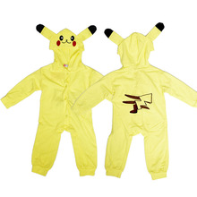 Kids Baby Cosplay Pokemon Go Pikachu Costume Halloween Toddler Infant Boy Girl Outfit Jumpsuit Christmas Birthday Party Clothes