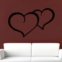 DCTOP Double Hearts Wall Sticker Living Room Decoration Hollow Out PVC Waterproof Wall Decal Home Decor